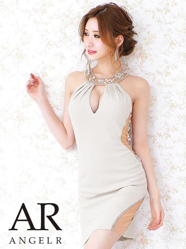【AngelR】【予約/9月中旬から9月下旬より発送】ビジューラインタイトミニドレス(AR21318)