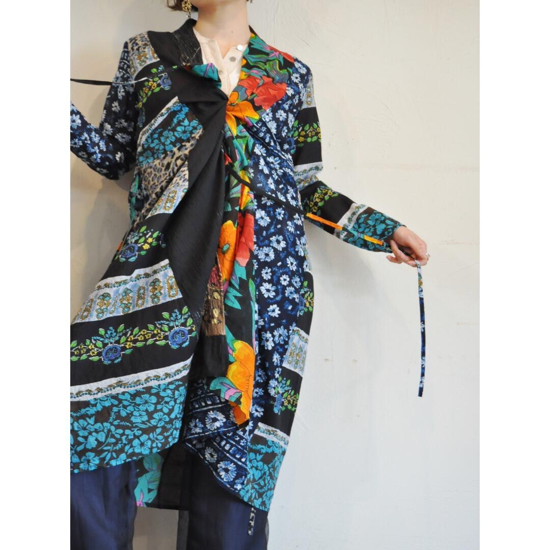 【RehersalL】ethnic gown onepiece(dark 5) /【リハーズオール】エスニックガウンワンピース(ダーク 5)