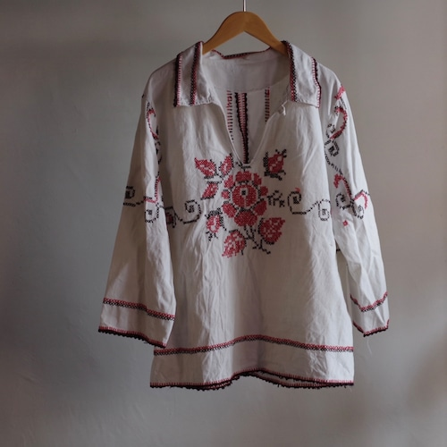 Embroidery Shirt / 刺繍 チュニック シャツ