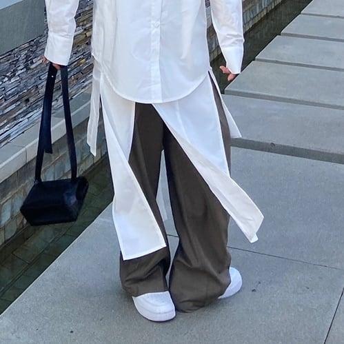 White open design skirt(ホワイトオープンデザインスカート)  b-077