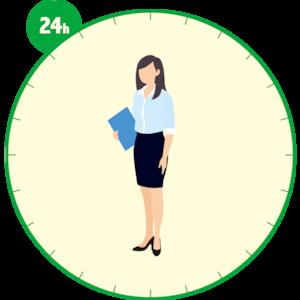 女性会社員の24時間