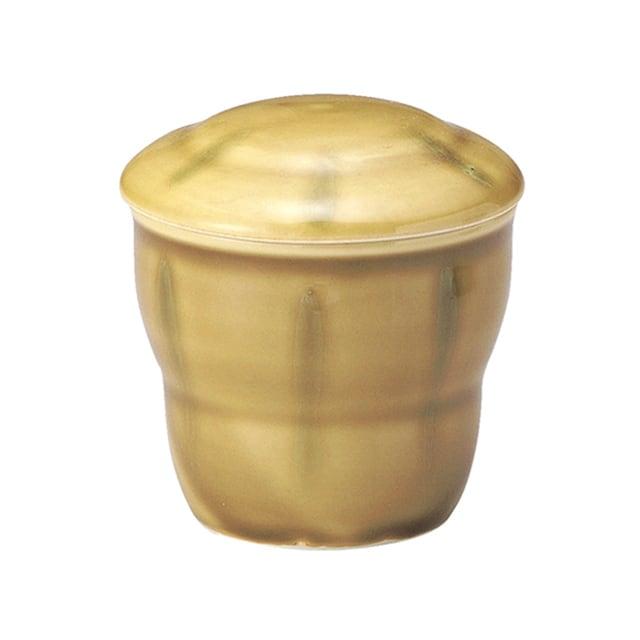蒸し碗(身・蓋セット)ミニサイズ 満水160cc わら【2025-2026-6020】