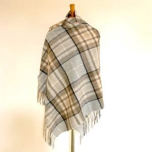 【TWEEDMILL】Lambswool Blanket Stole with Pin(Knee Rug) Tartan Mckellar