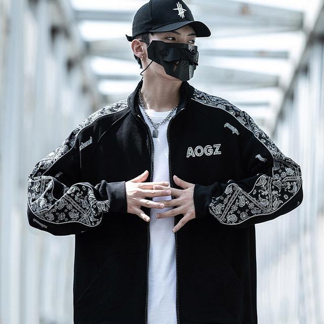 【AOGZシリーズ】★スタジャン★ 2color 黒or白 アウター ジャケット ゆったり 春秋 ファッション カップル服