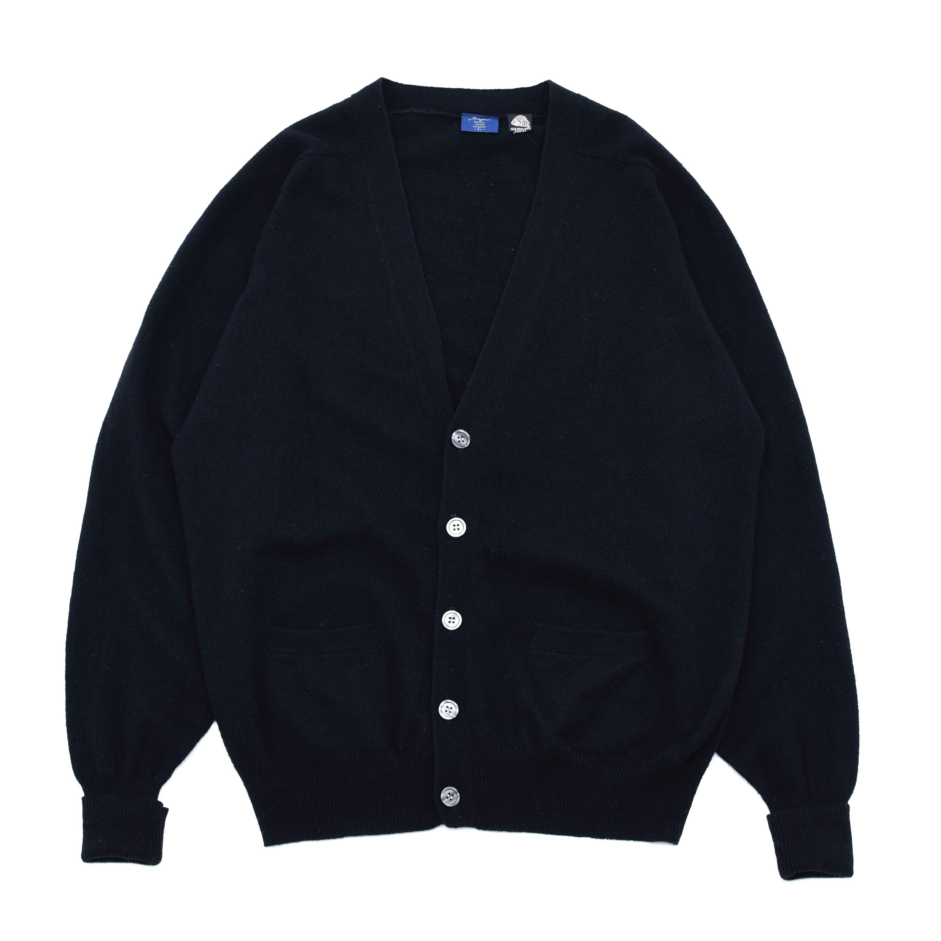 Black wool knit cardigan
