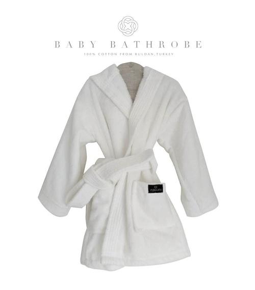 Denizli cotton Baby Bathrobe White デニズリコットン ベビーサイズバスローブ ホワイト