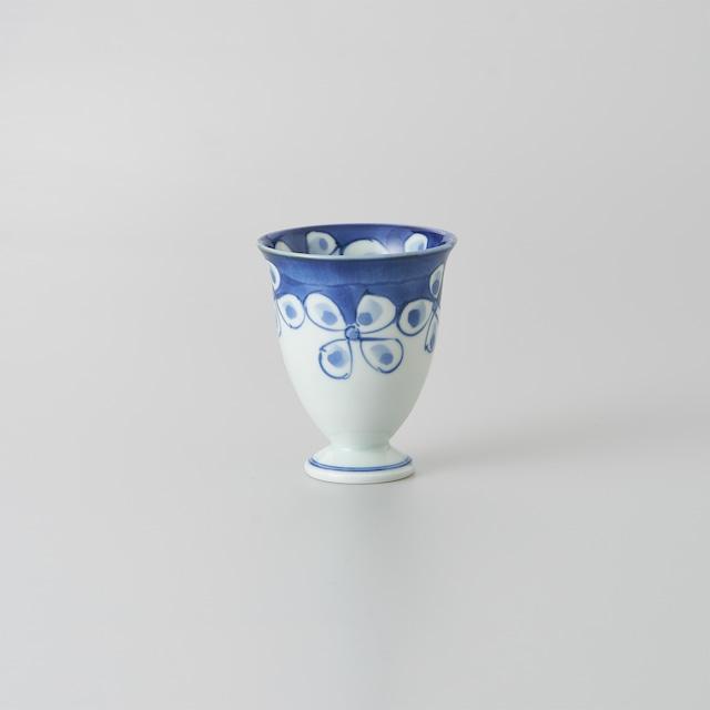 """【青花】""""Classic"""" ワインカップ(花つなぎ)"""