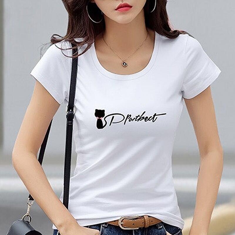 ブラックキャット♡ラウンドネック半袖Tシャツ♪