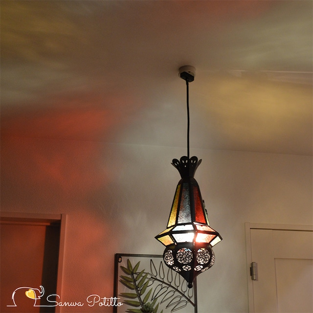 ペンダントライト o18122 ステンドグラスライト 天井照明 豪華 ムードライト 寝室照明 間接照明 照明 リビング 玄関 O18122 高さ42cm