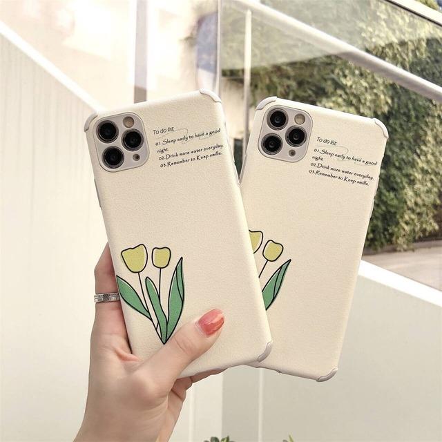 iPhoneケース チューリップ シンプル iphone11 ケース かわいい シンプル 韓国