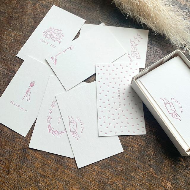 【活版印刷】限定色 Thank you card box  浅紫(カード7種アソート30枚入り)