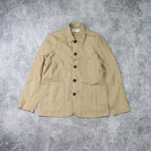 """【Universal Works.】 BAKERS JACKET  """"TAN""""  Patchwork Fine Twill  ユニバーサルワークス"""