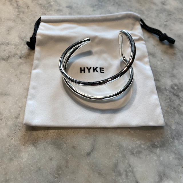 HYKE【ハイク】 DOUBLE LINE BANGLE (19197 / SILVER).