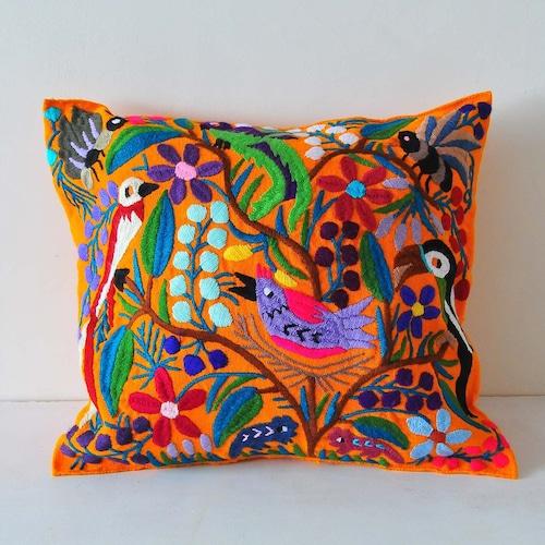 メキシコ シナカンタン刺繍クッションカバー(A)