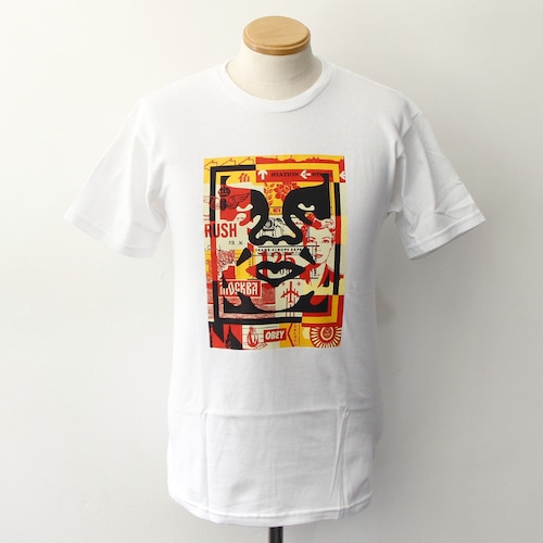 OBEY 3 FACE COLLAGE [BASIC] (WHITE)