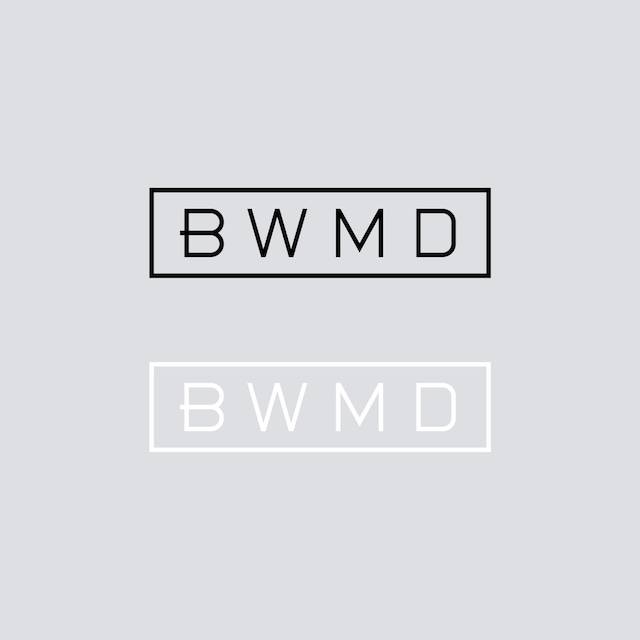 BWMD LOGO CUTTING STICKER 【 S 】