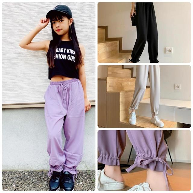 【Yuma×dance】XS〜M 3カラー ★ ボトムス パンツ シンプルデザイン リボン