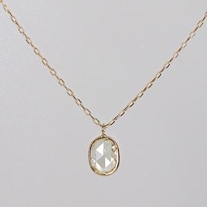 Rosecut diamond necklace / Oval