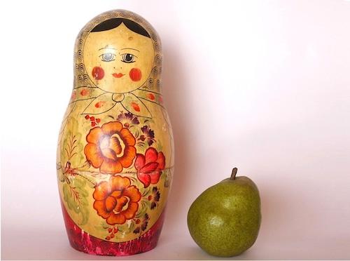 大きなマトリョーシカ貯金箱ロシア・セミョーノフ民芸木地人形