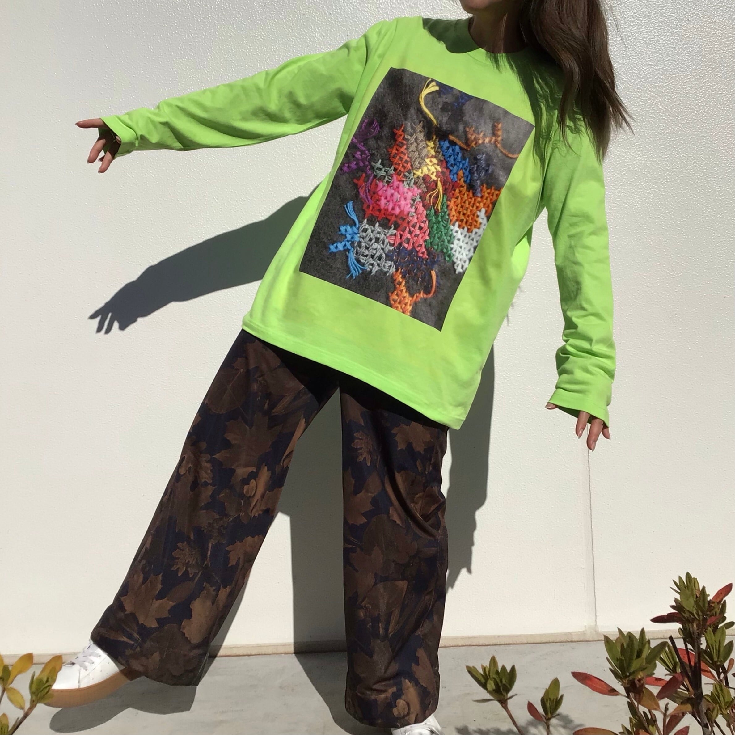 Cross stitch Long sleeve shirt