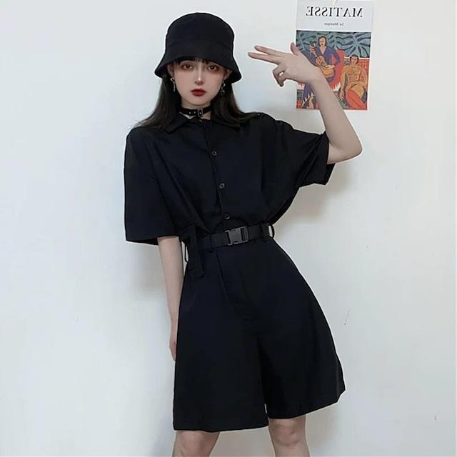 【ワンピース】ストリート系個性的無地ファッションワンピース42916854
