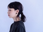 Wrapped Beads Pearl Earrings / Amber×White (イヤリング/ピアス)