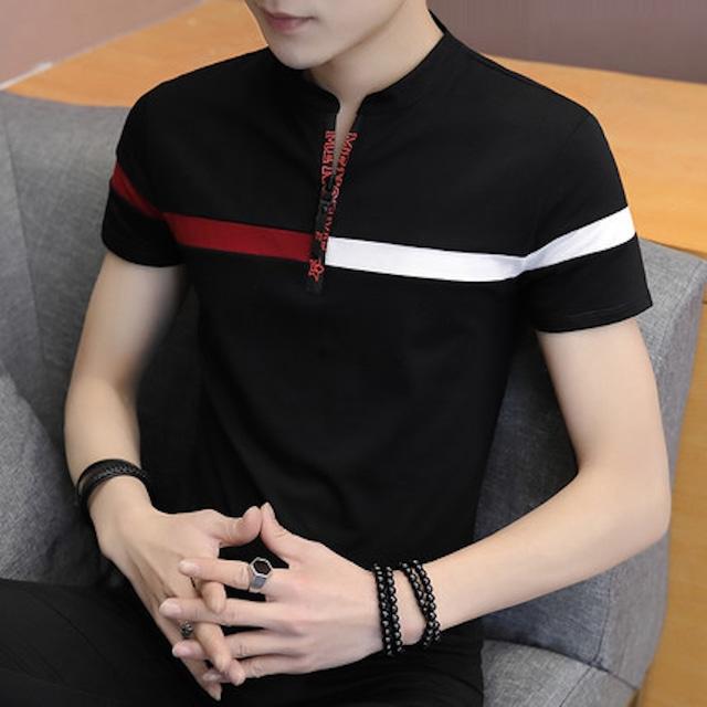 ポロシャツ Tシャツ メンズ 半袖 ティーシャツ インナー トップス カジュアル カtps-1901
