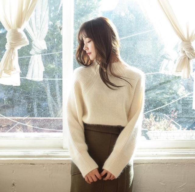 【トップス】シンプル ニット 韓国 秋冬 ハイネック ゆったり ふわふわ カジュアル 長袖 可愛い きれいめ お出かけ デート