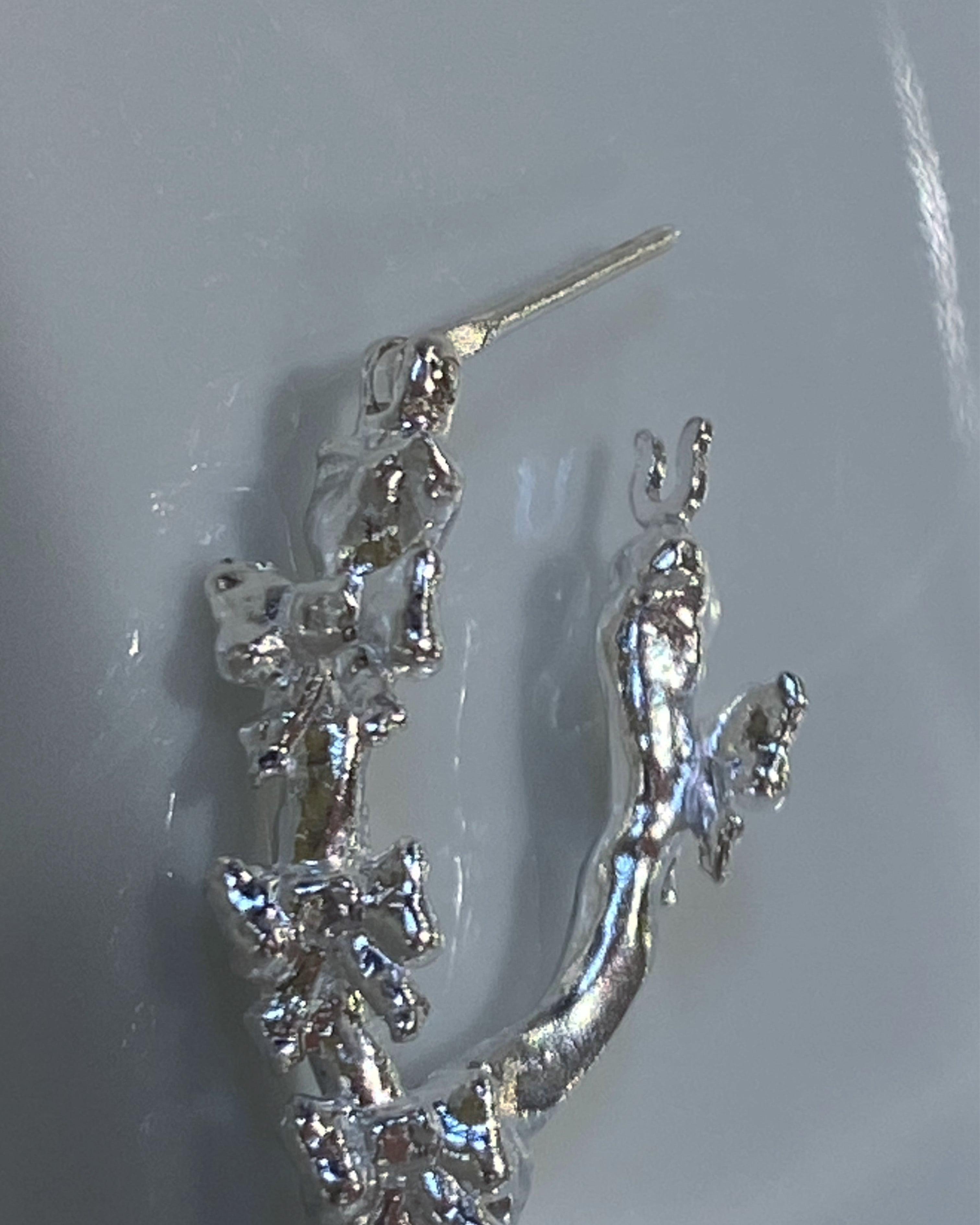 ribbone earring 3-1 片耳silver925 #LJ21057P リボーンピアス片耳