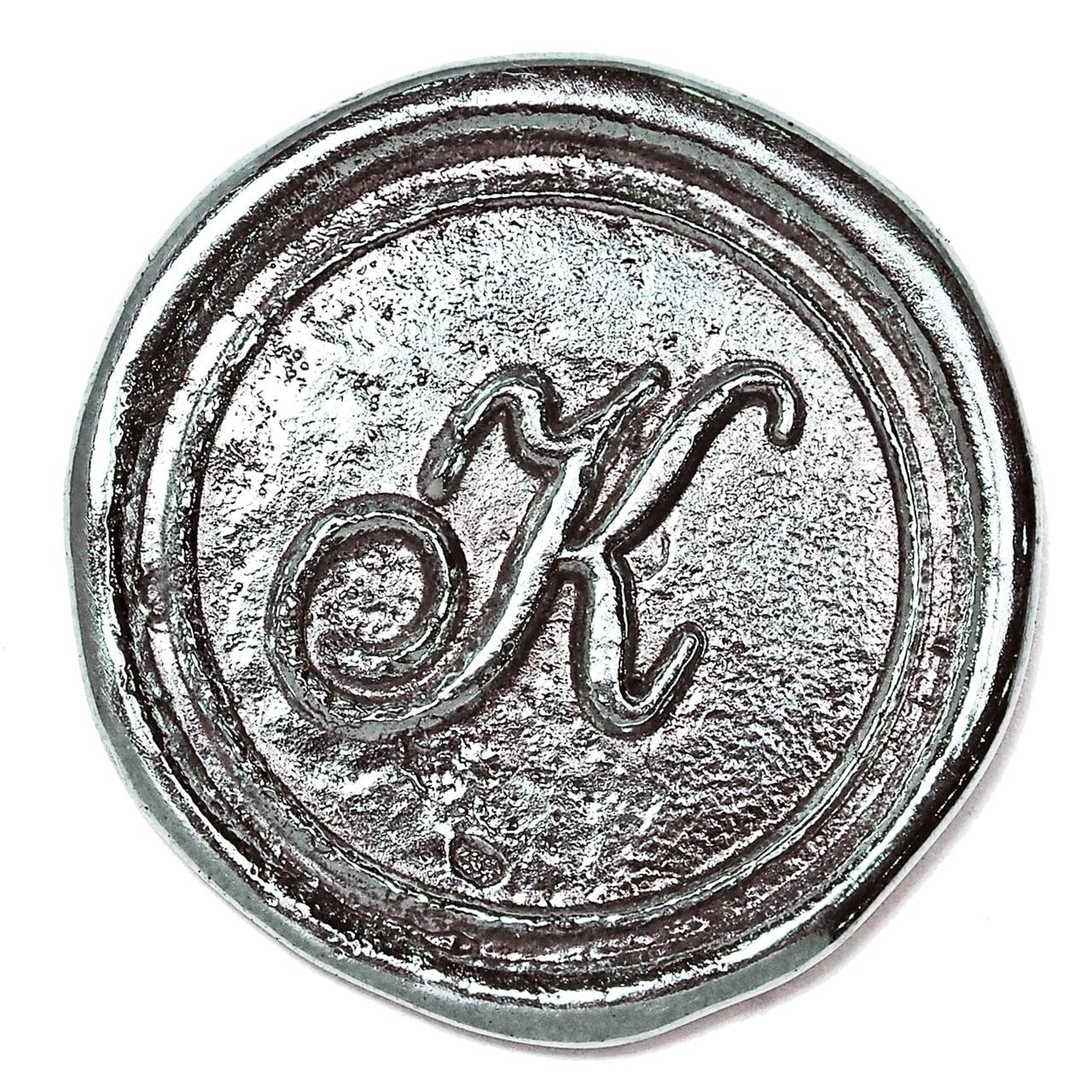 シーリングイニシャル LL 〈K〉 シルバー / コンチョボタン