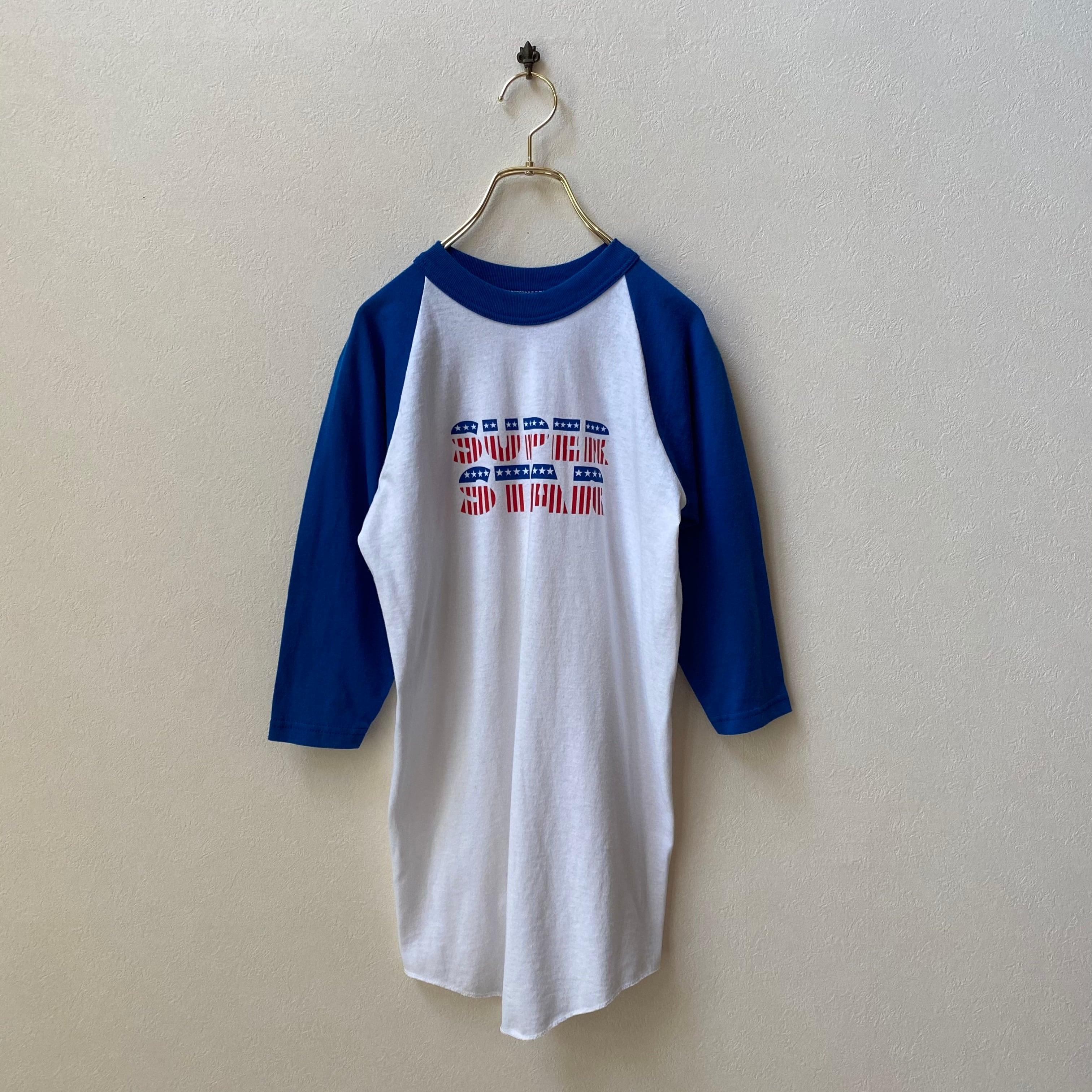 """レディース""""SOFFE SHIRTS""""80〜90年代 USA製 ラグランTシャツ アメリカ 古着 コットン ポリエステル 日本S〜M"""