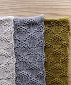 【予約販売】手編み機で編んだオーガニックコットン糸(NO.22)のおくるみ (WOA-051)