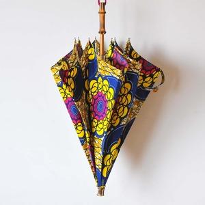 Bon Bon Store アフリカンバティック長傘(竹 003)