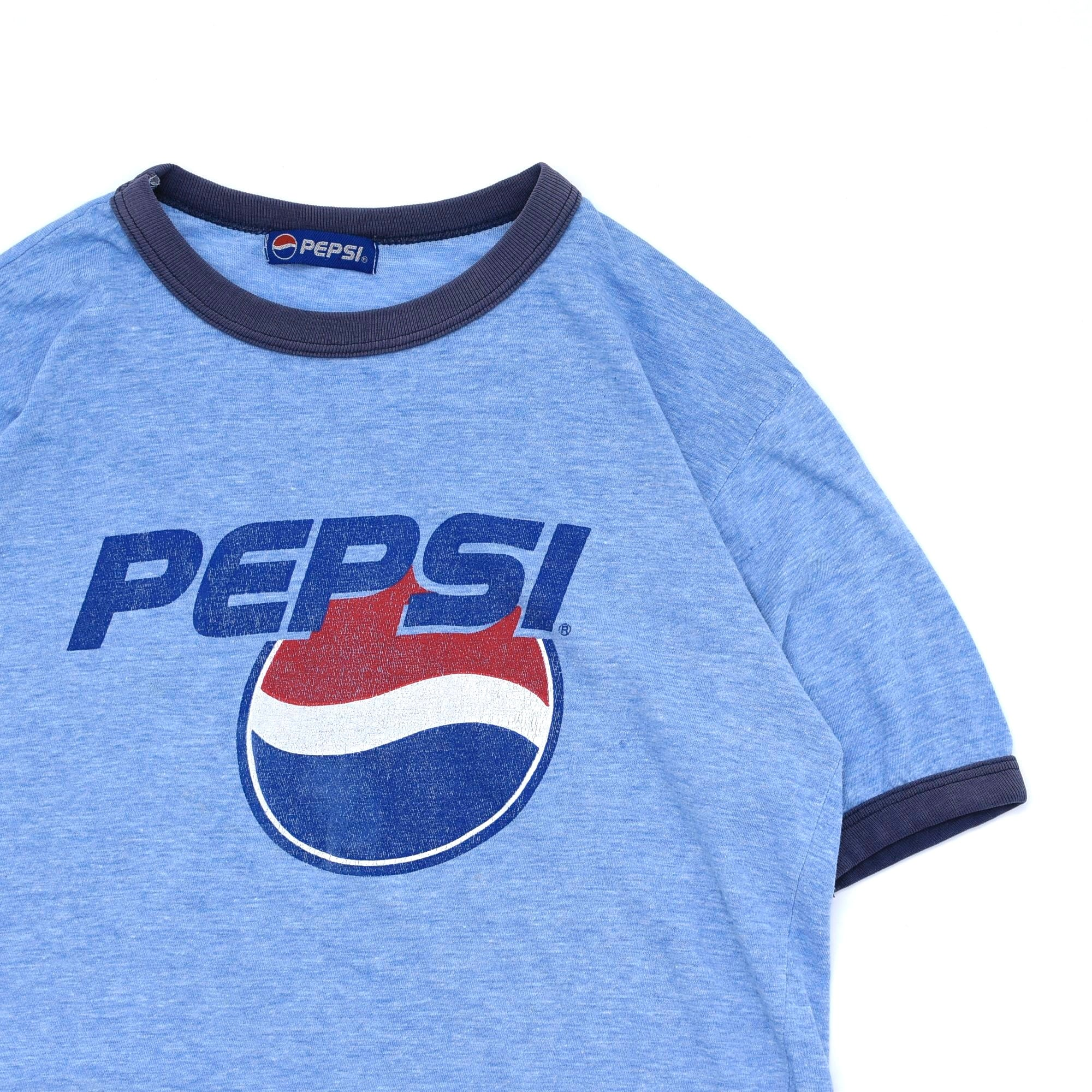 90's PEPSI logo print ringer T shirt
