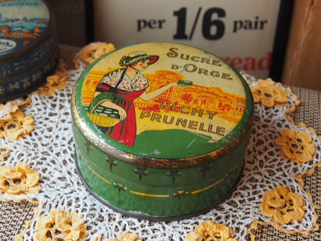 フランスアンティーク キャンディー缶