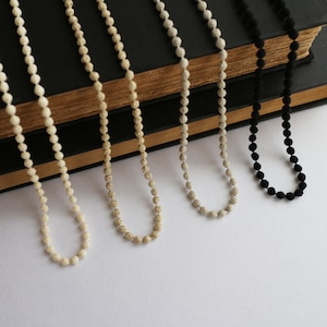 【ball necklace】 メタリック SS(GD / SV)