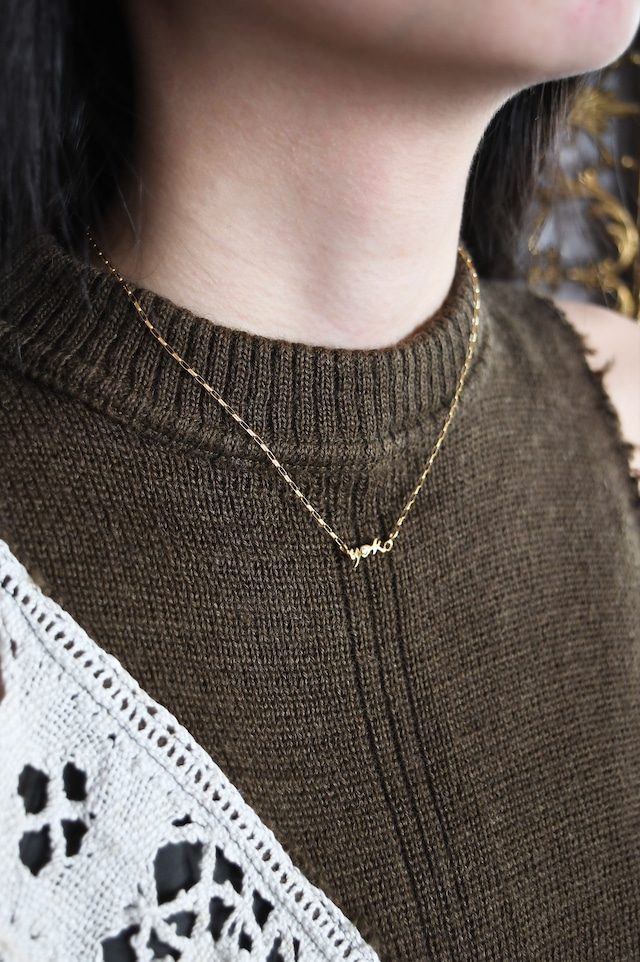 K18 Name Plate Design Necklace with Diamond 18金ネームプレートデザインネックレス(ダイヤモンド)