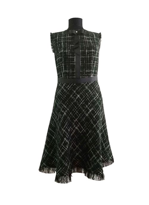 Tweed Dress Dark Green ツィードドレスダークグリーン