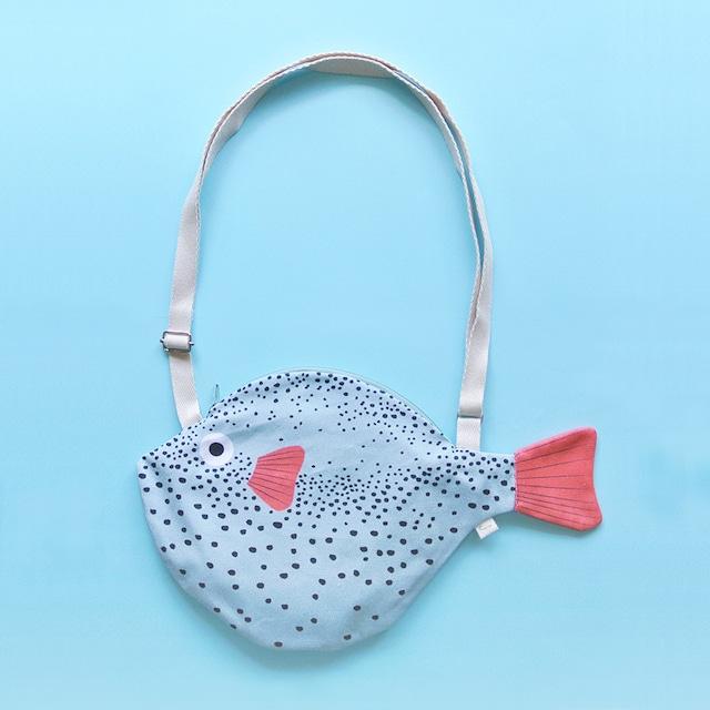 《魚/ふぐ》おさかなバッグ フグ ショルダーバッグ DON FISHER ドンフィッシャー SMALL PUFFERFISH Aqua スペイン 輸入雑貨