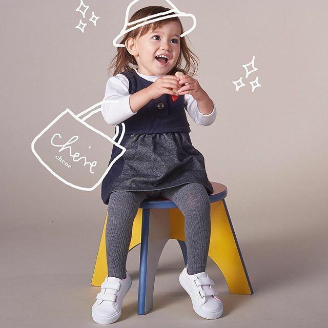 【ベビー服】ジャンパースカート / クラシックネイビー / 80~100サイズ