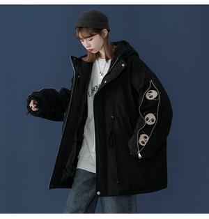 【半額セール!】暖かいパンダプリントダウンジャケット  3色 <ins-1465>