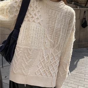 Twist design sweater(ツイストデザインセーター)a-900