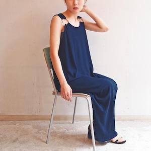 ■リングマキシワンピース/濃藍色