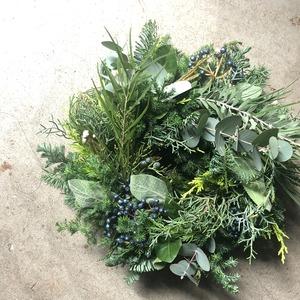 Fresh Green Wreath M-size (〜Φ30cm)※発送は11月下旬から
