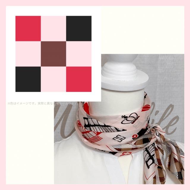 【ロマンチック&アクティブなカラーイメージ】2021春夏新作 スカーフ |キュートな雰囲気をプラスしたいときに♪【SM023】