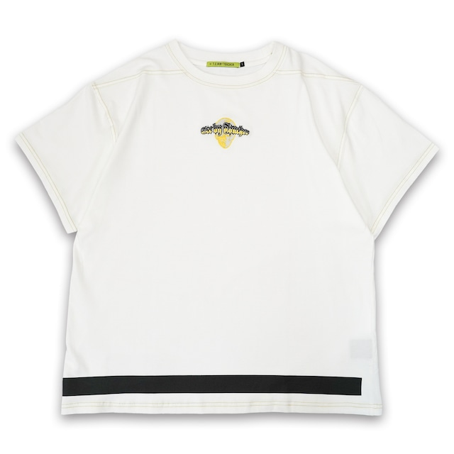 T.C.R EXTREME EMBROIDERY LOGO S/S TEE - WHITE