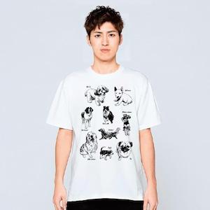 犬 動物 Tシャツ メンズ レディース 半袖 おしゃれ 動物 プレゼント 大きいサイズ 綿100% 160 S M L XL