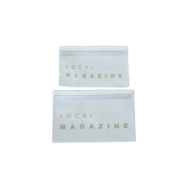 LOCAL MAGAZINE 2ND ISSUE CLEAR CASE SET [ OFFWHITE ] *音源QRコード付き