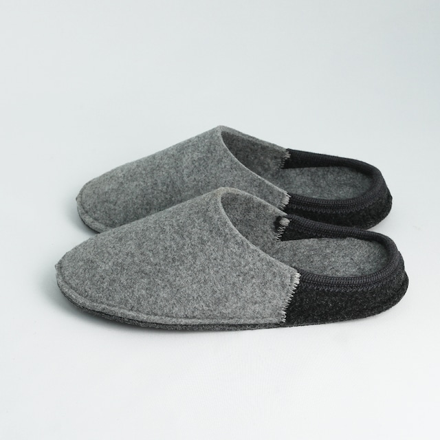 NUVOLA BICO ルームシューズ  Gray / charcoal[ Le Clare ]