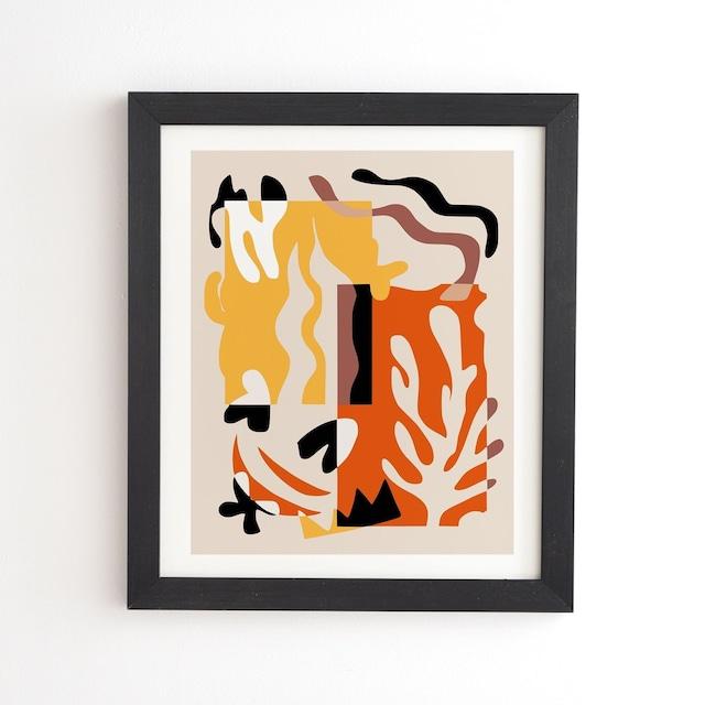 フレーム入りアートプリント    STRIPE COLLAGE BY LITTLE DEAN 【受注生産品: 11月下旬頃入荷分 オーダー受付中】